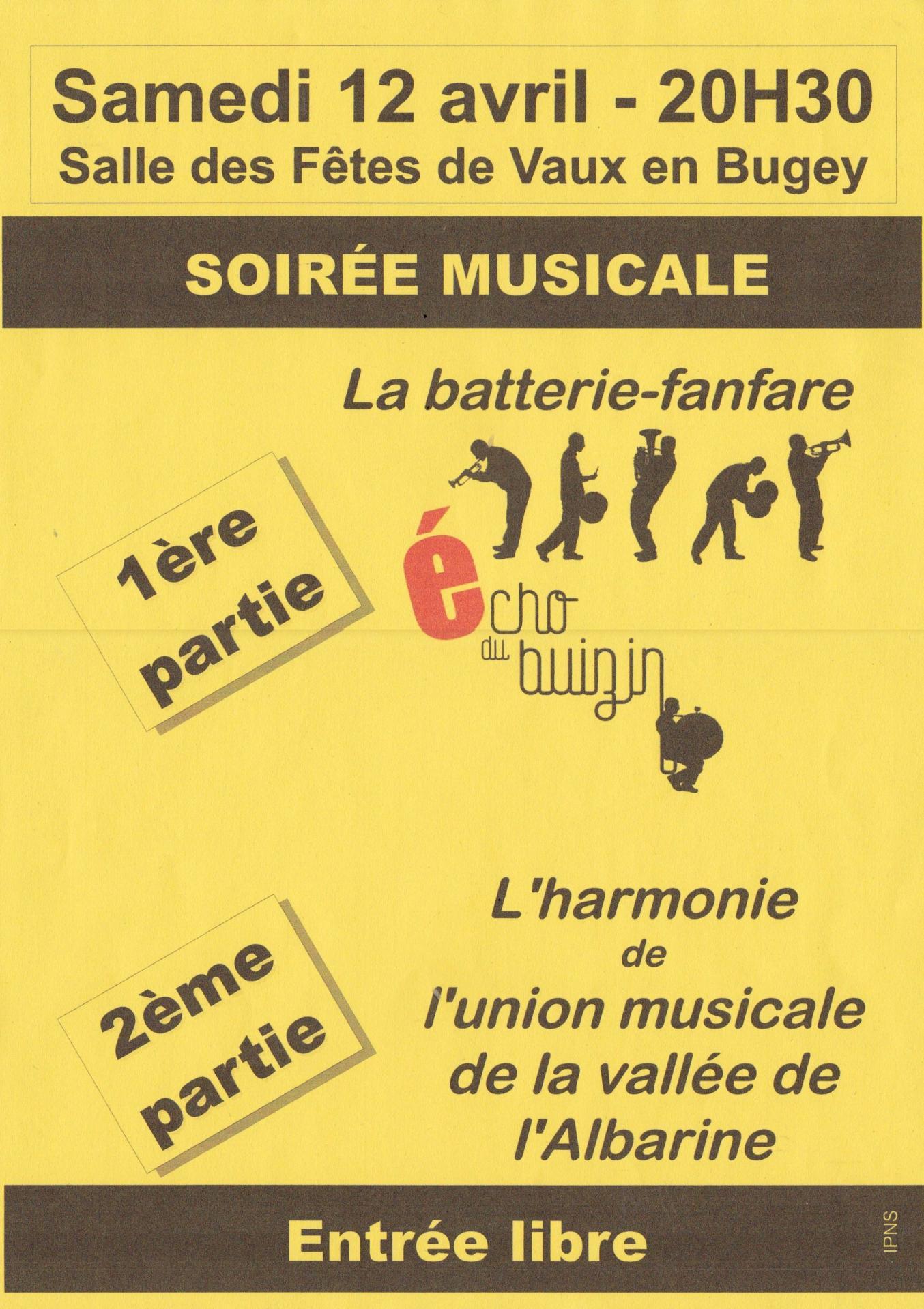 Concert echo du buizin et Union Musicale Albarine