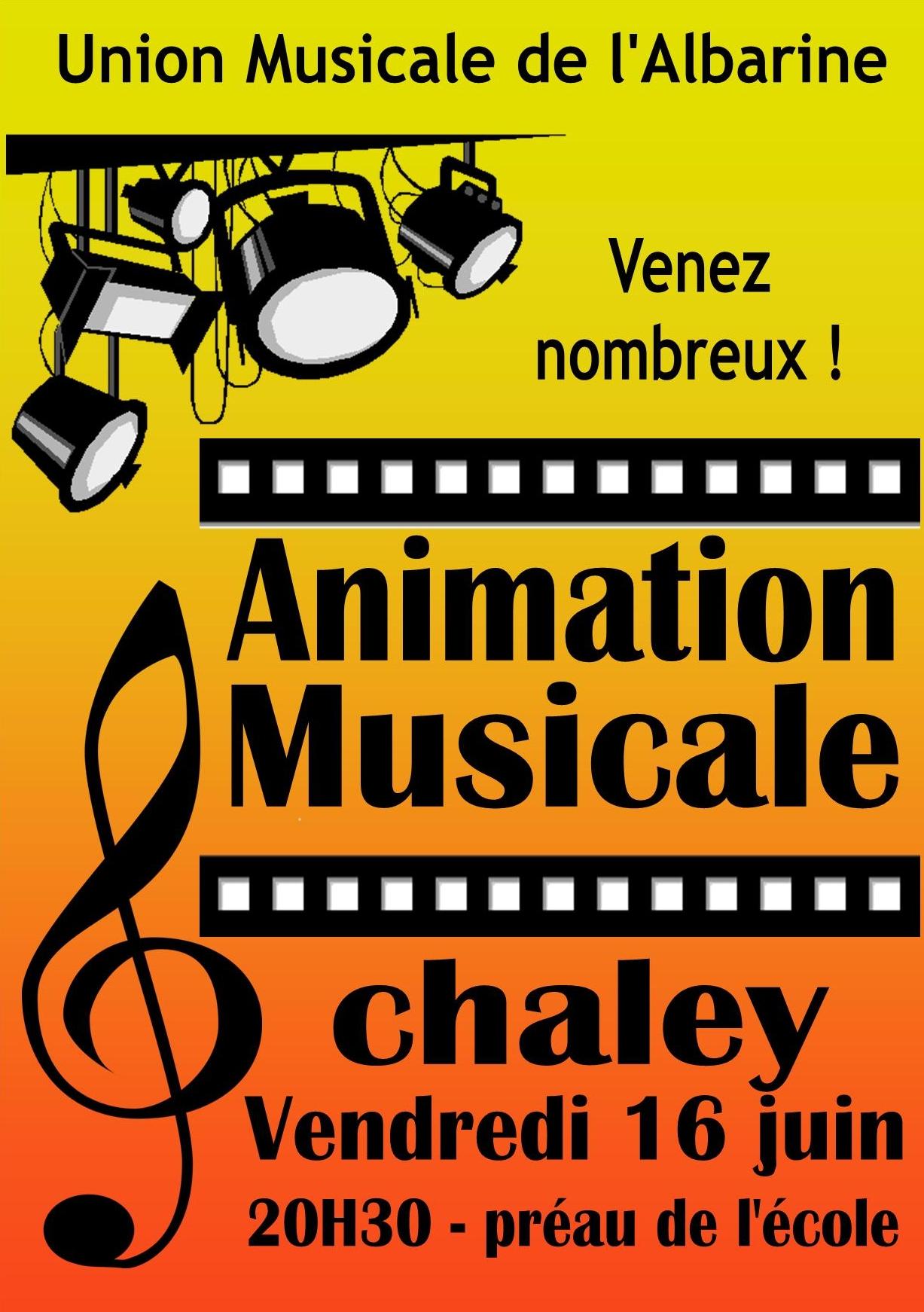animation champêtre de l'Union Musicale de l'Albarine