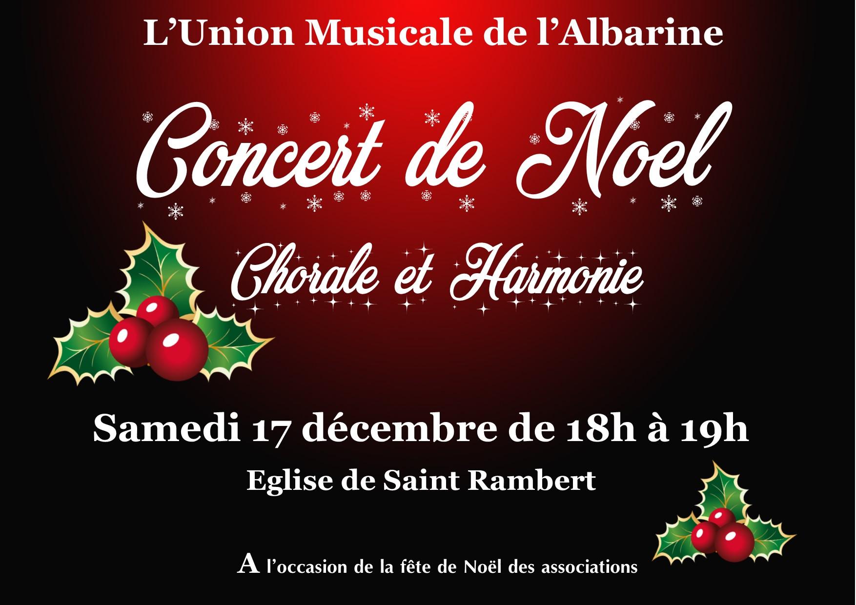 concert de Noël de l'Union Musicale 2016