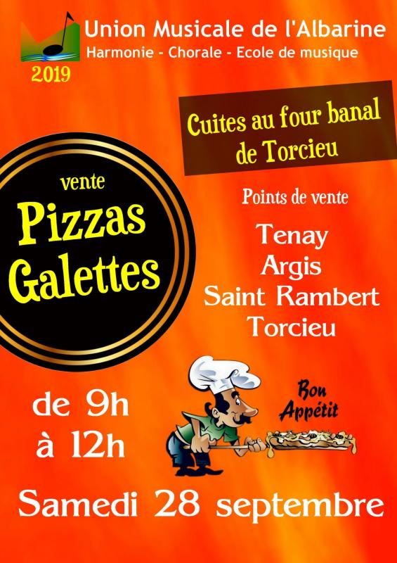 Galettes et Pizzas Union Musicale Albarine 2019