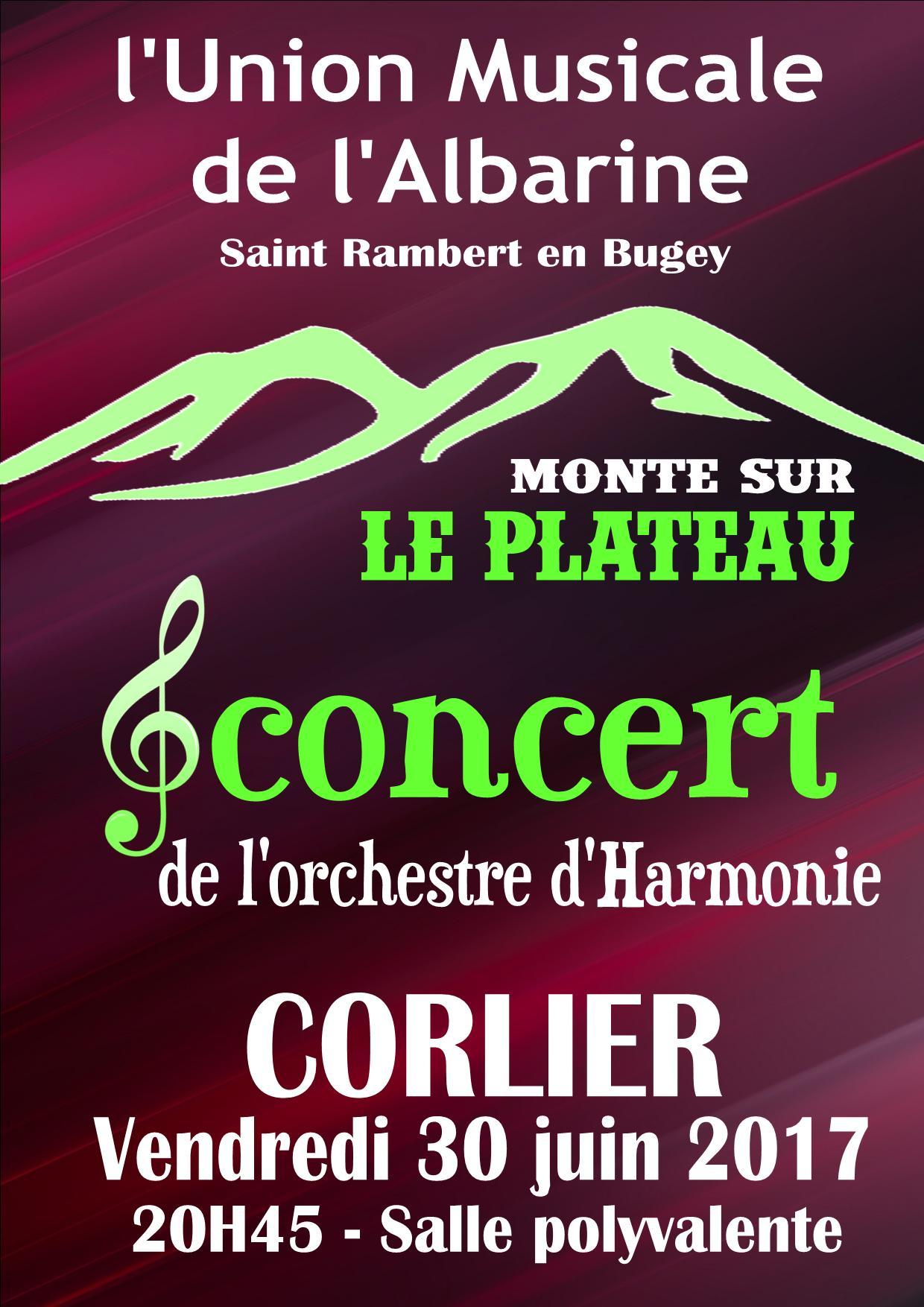 Concert Corlier Union Musicale Albarine 30 juin