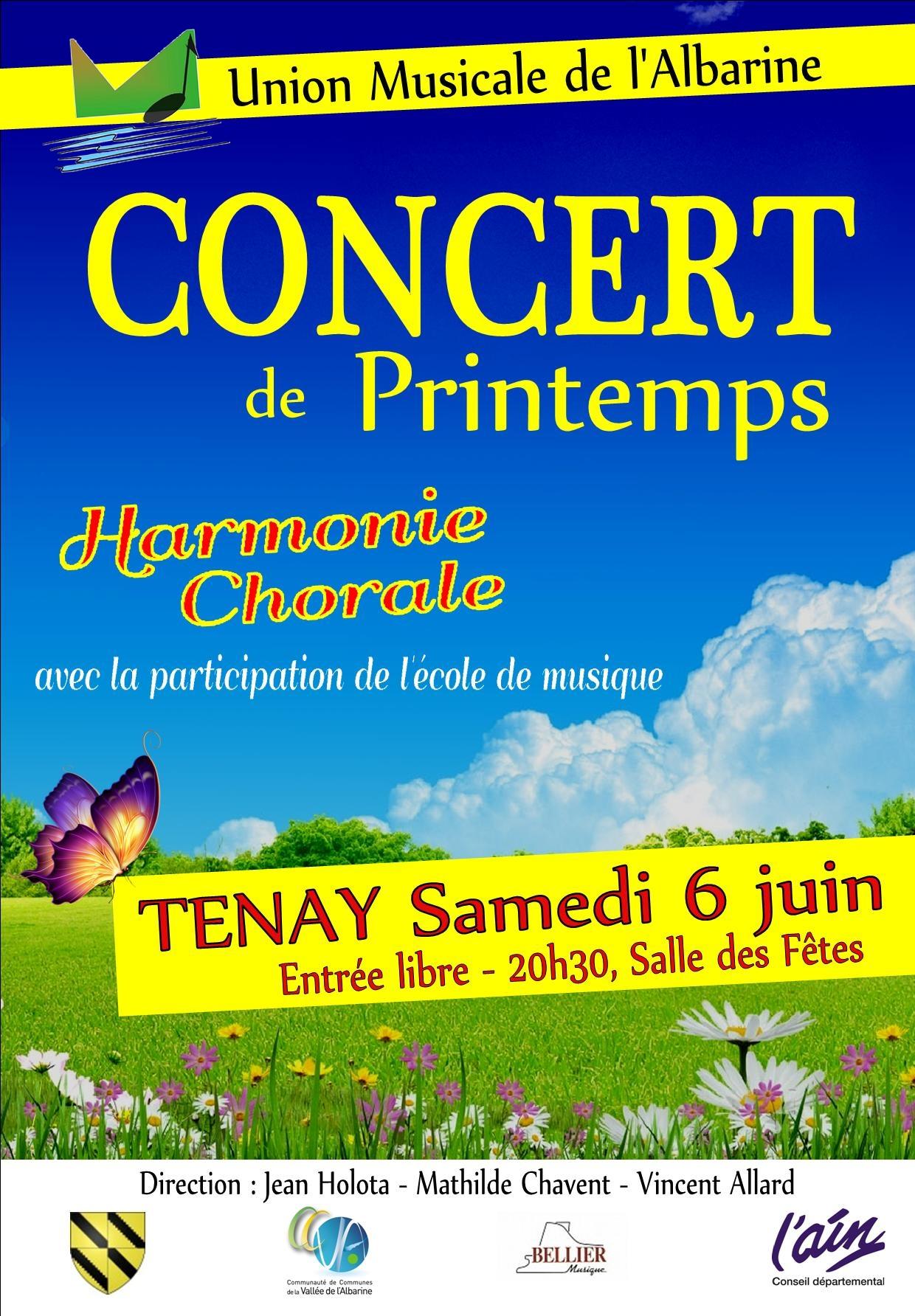 Concert Union Musicale Albarine Tenay 6 juin 2015