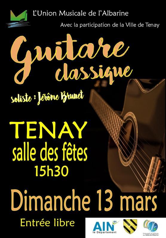 concert guitare Tenay 13 mars 2016