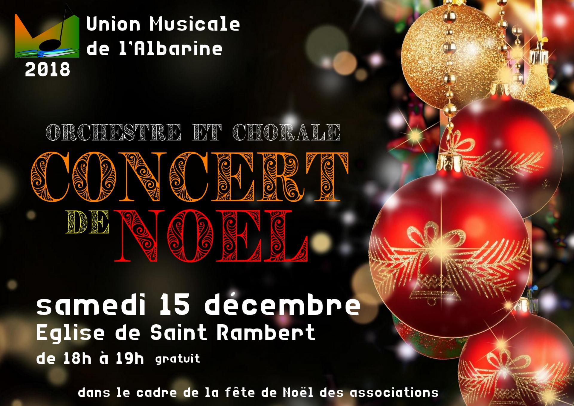 concert de Noël 15 décembre 2018 Saint Rambert