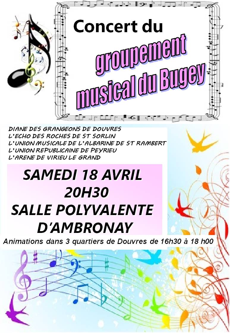 Affiche concert 18 avril