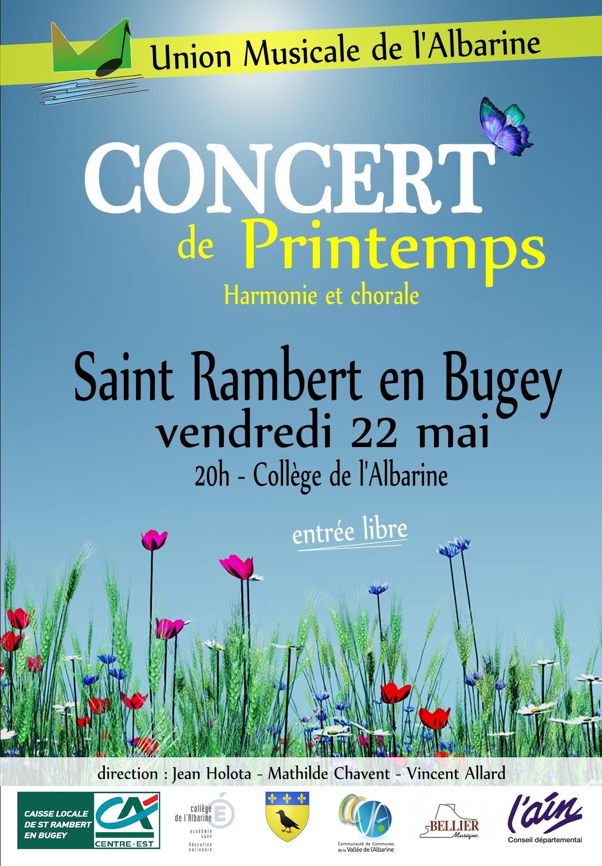 Affiche concert Union Musicale Albarine 22 mai