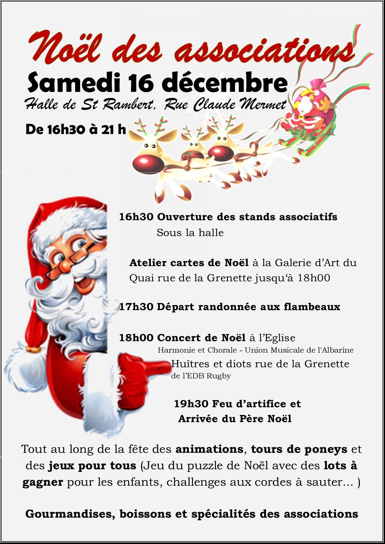 affiche fête de Noël Saint Rambert en Bugey 2017