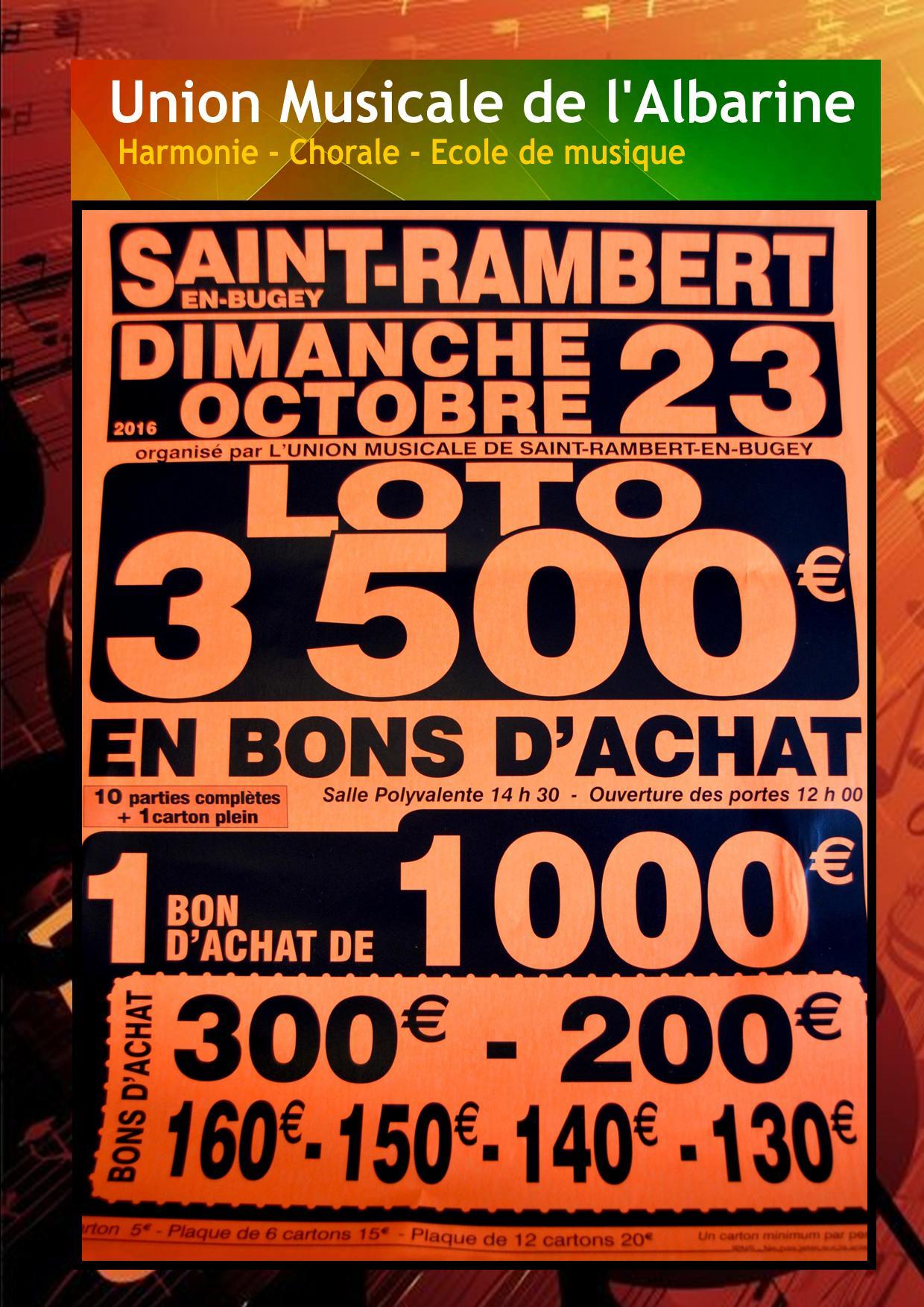 Affiche promo loto 23 10 16
