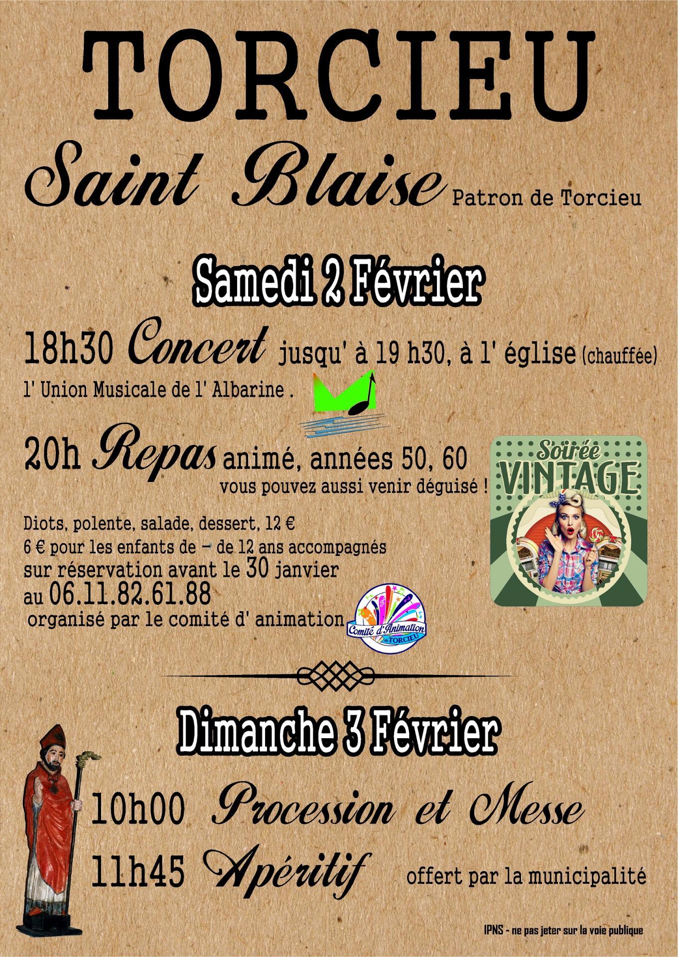 Affiche saint blaise 02 02 19