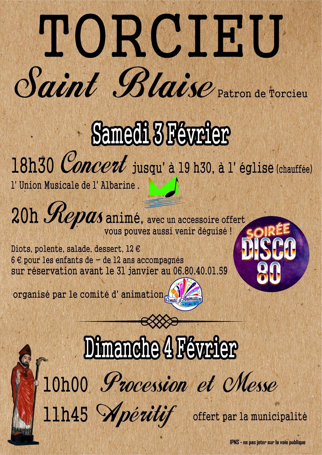 Affiche saint blaise 03 02 18