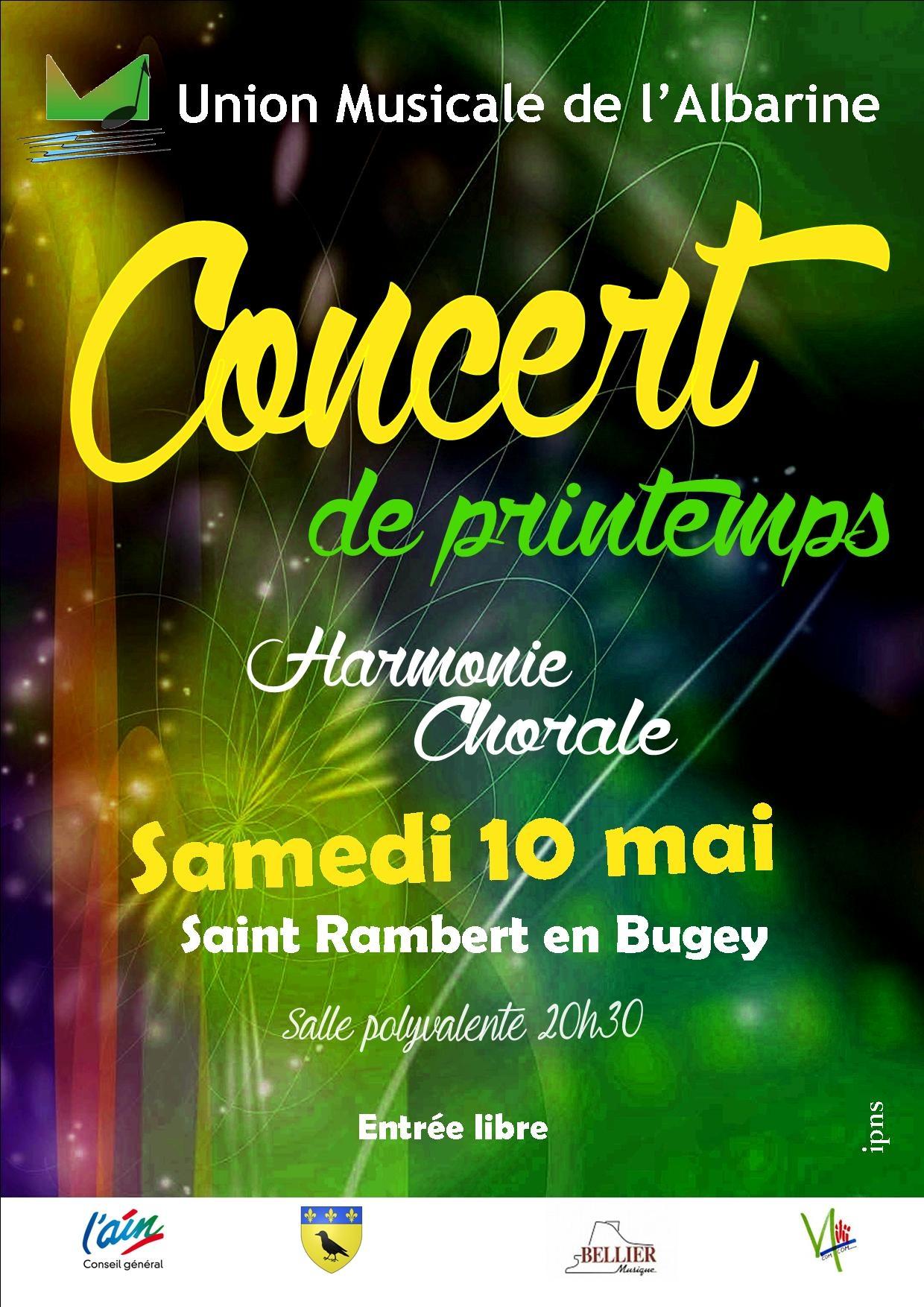 Concert de printemps Union Musicale Albarine 2014