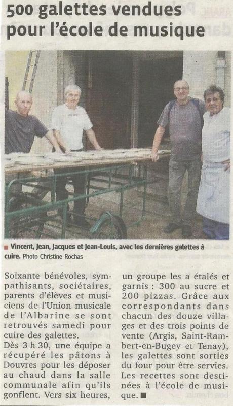 Opération galettes - Le Progrès 26-10-2013