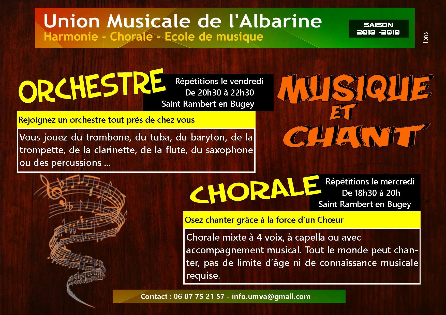 Harmonie et chorale 2018 2019
