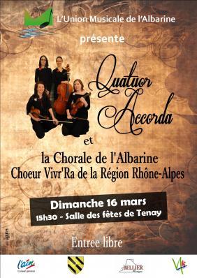Quatuor Accorda Union Musicale Albarine Tenay