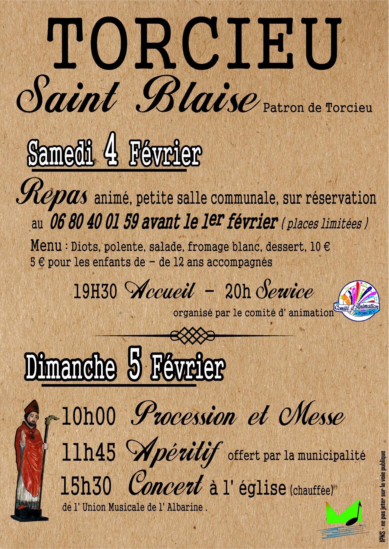 affiche saint blaise Torcieu 2017